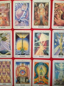 The Thoth Tarot deck is one of the most beautiful ever created.